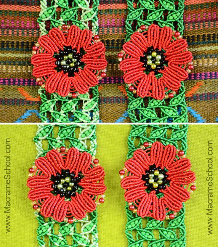 How to Make a Macrame Poppy #Howto #Macrame #Poppy
