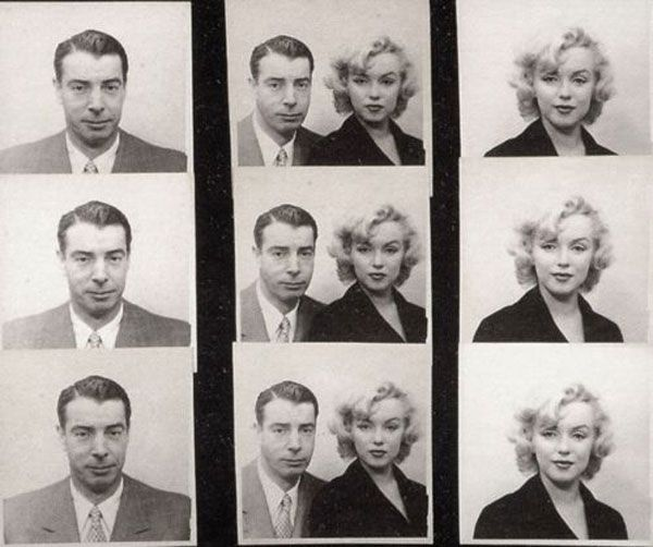 Marilyn Monroe and Joe Dimaggio's passport photos, 1954