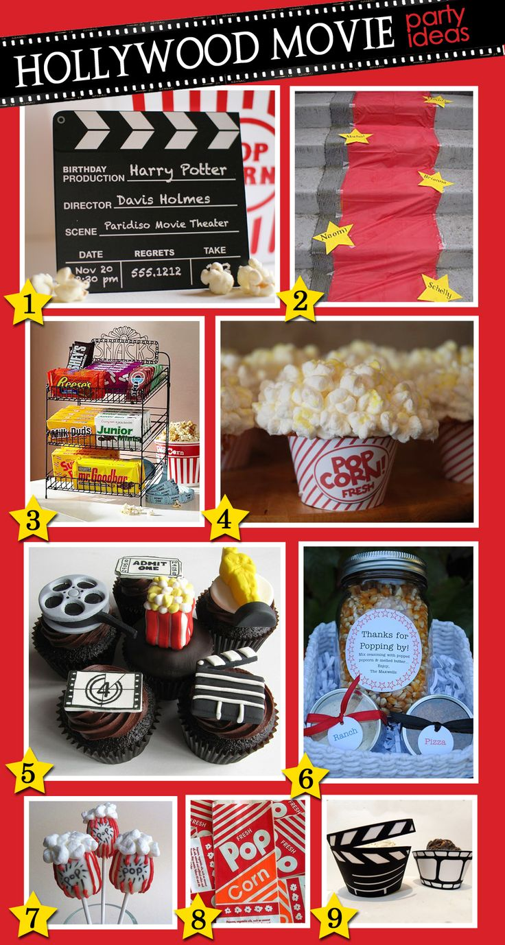 Good ideas for a movie themed birthday party