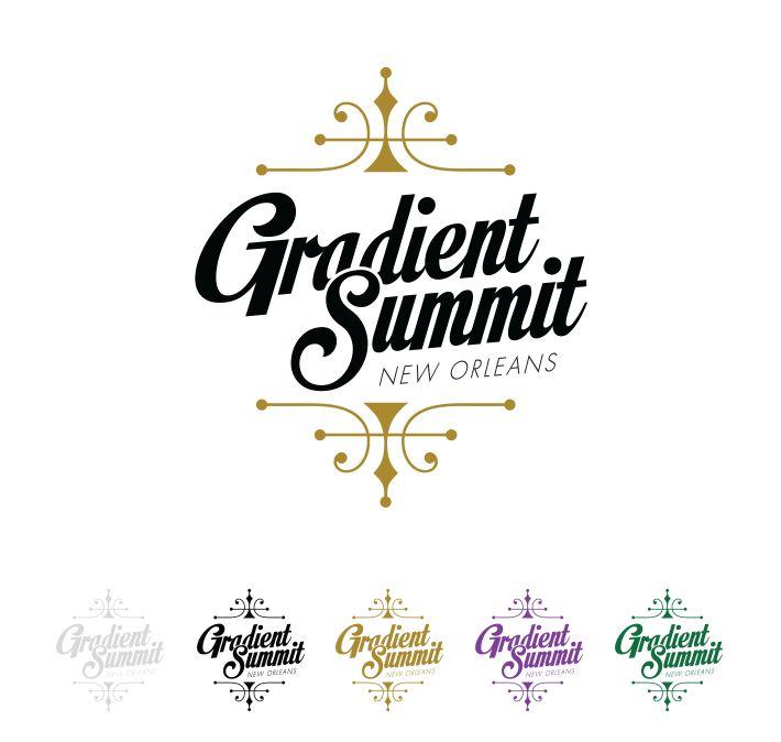 Gradient Summit 2015: New Orleans #logo #design