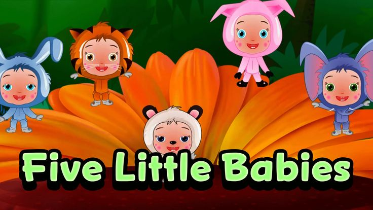 Five Little Babies Jumping On The Bed | Nursery Rhymes For Kids