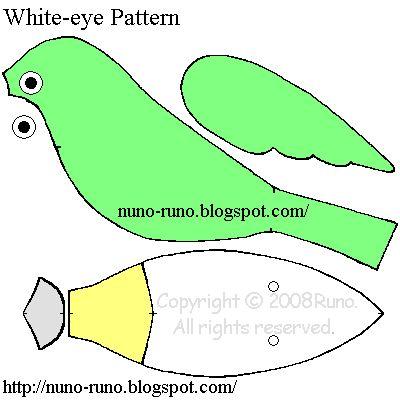 White-eye bird pattern