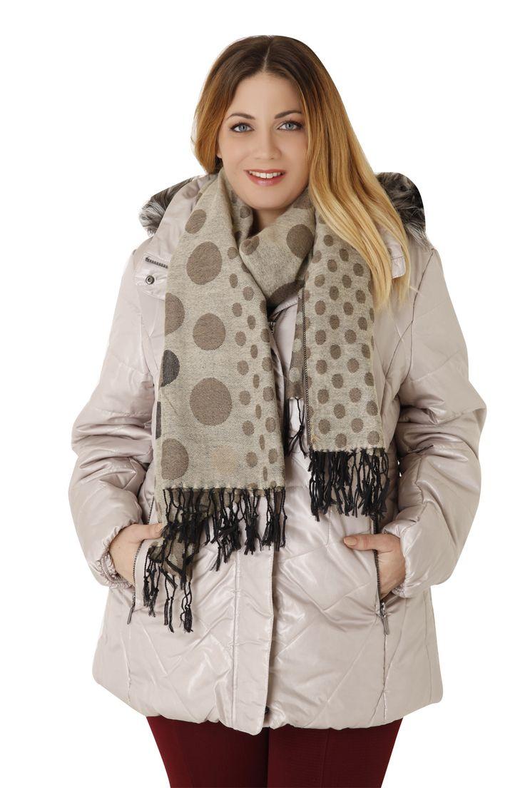 Μπουφάν γυαλιστερό με κουκούλα & γούνα - Ρούχα | Parabita