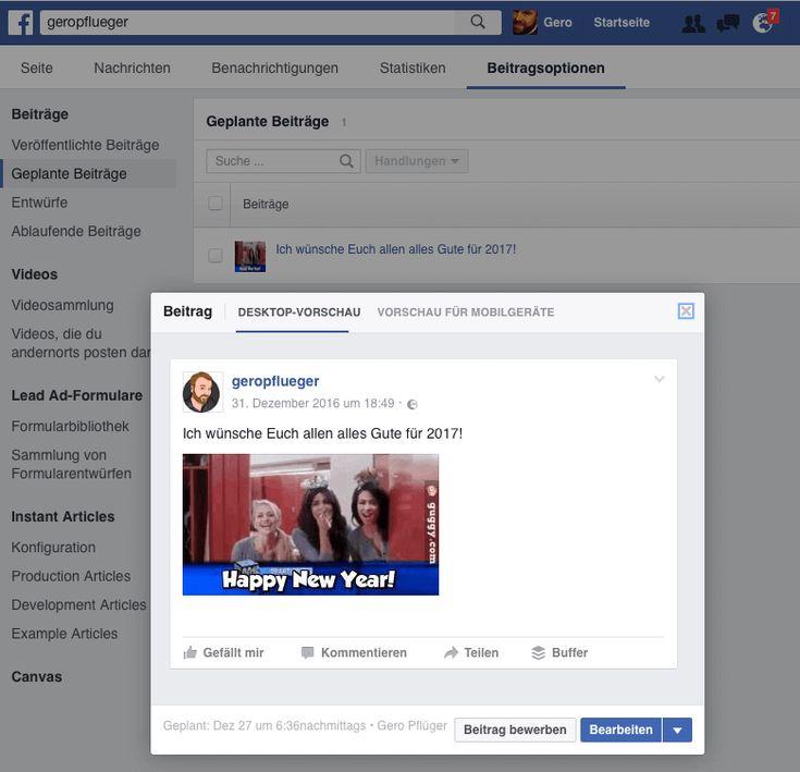 Wie kann ich auf Facebook Beiträge im Voraus planen