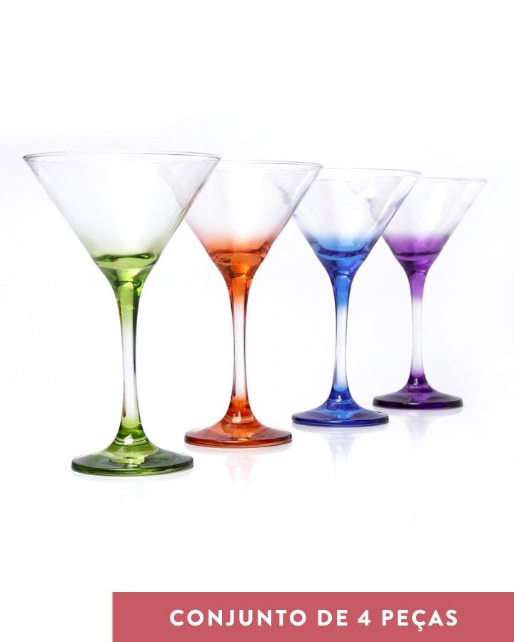 Taça Martini Tabuk - Colorfull Glasses - Coquelux - O jeito smart de comprar chic na internet
