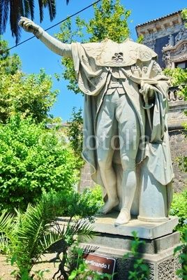 Catania, Italy, Ferdinand the first without head