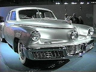 Preston Tucker (1903-1956) developed a car so far ahead of its time that he got his brains screwed out by the big three car makers because they had NO intrest in building safe cars they just wanted to make money...still do  RIP mr tucker