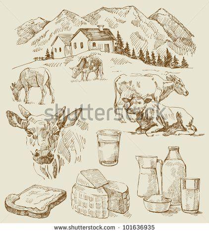 farm - hand drawn set