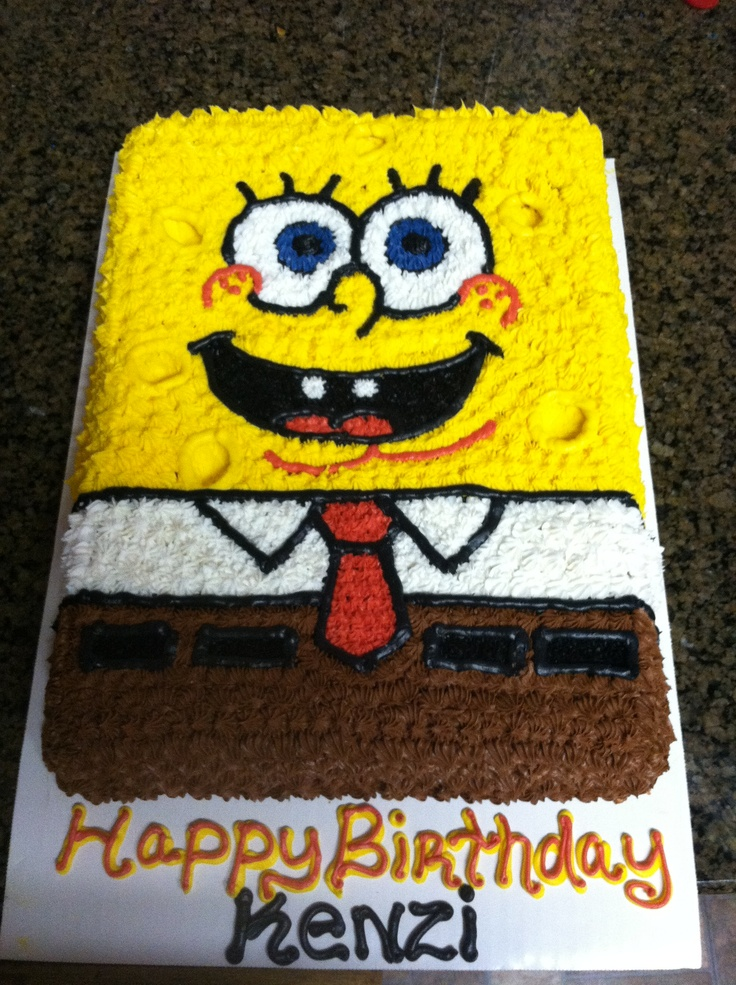 25+ best Sponge bob cake ideas on Pinterest Spongebob ...
