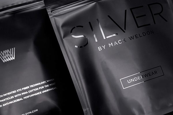 Silver by Mack Weldon on Packaging Design Served