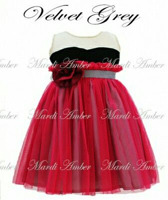Dress mardi amber red