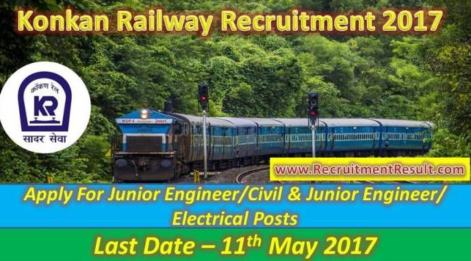Job finders, who are looking railway jobs are, informed that newest employment notification has been asserted as Konkan Railway Recruitment. Dynamic, career oriented and suitable contenders are invited to fill up the 7 vacancies of Junior Engineer.