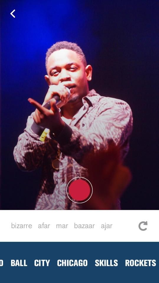 Rhymeo gives you material for your raps on its app by providing rhymes for support, pictures for inspiration, and contextual words at the bottom for switching your rhyme scheme.