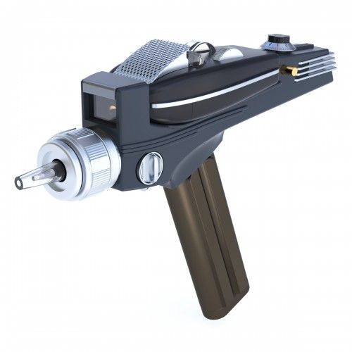 Star Trek Original Series Phaser Universal Remote Control. Pricy, but it would be cool to own!