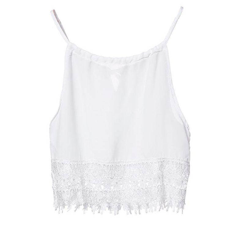 Fashion Women Summer Lace Tops • Sleeveless Casual Tops Tee  ② T-Shirt S M L XLFashion Women Summer Lace Tops Sleeveless Casual Tops Tee T-Shirt S M L XL