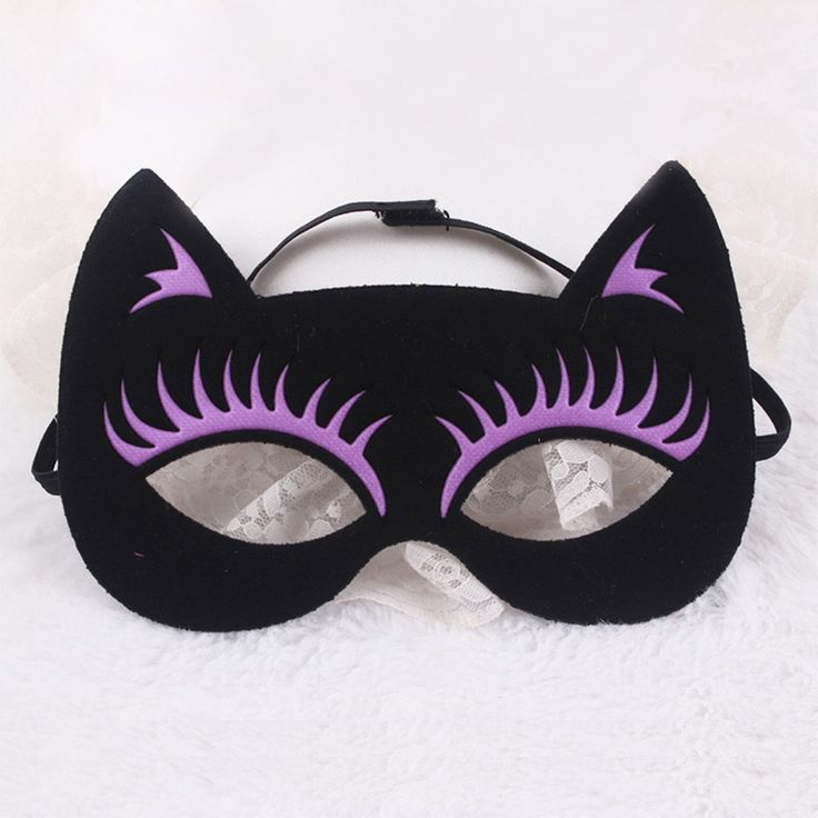 DIY party cat mask costume easter halloween birthday fox masked ball party mask - Masquerade mask - Dongguan Duosen Hair Accessory Co.,LTD