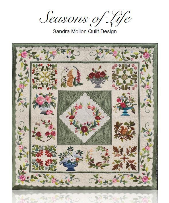 Seasons Of Life Applique Quilt Pattern Baltimore Or Album Style