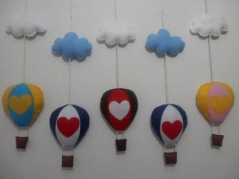 Mobile balão em feltro - PAP - YouTube
