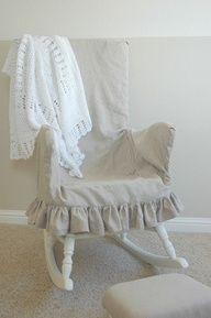 Adding comfort and warmth to a wooden rocking chair  source img
