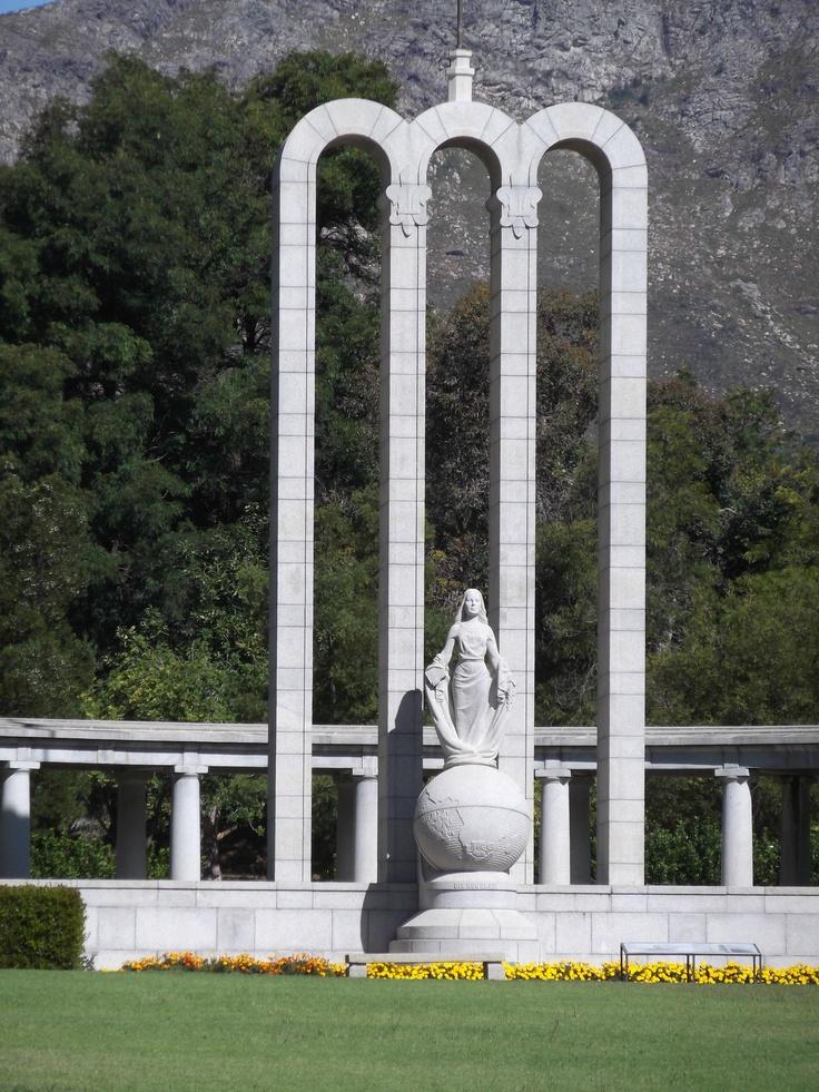 Huguenot Monument, Franschhoek home of La Clé des Montagnes 4 luxurious villas on a working wine farm!