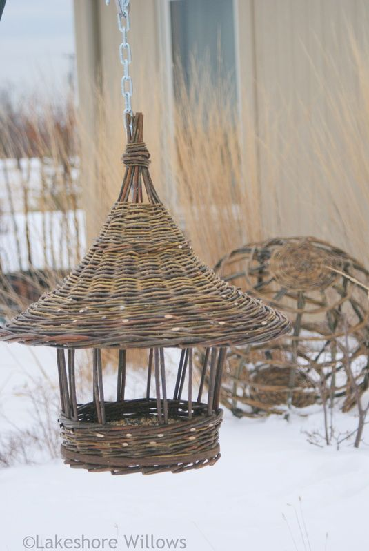 Basketry - lakeshore willows Willow bird feeder
