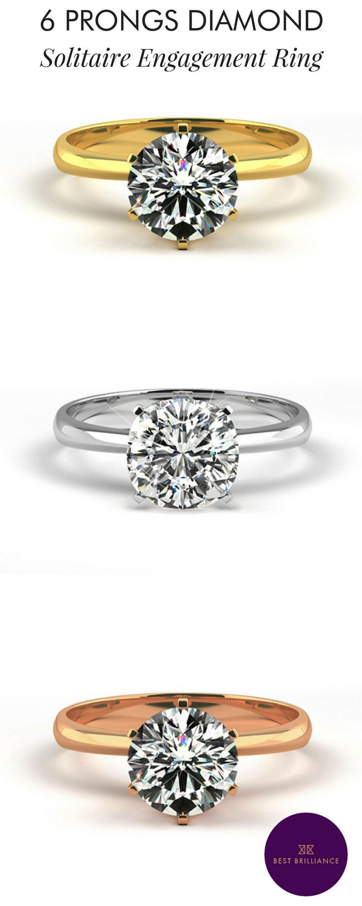 30 best engagement rings solitaire images on