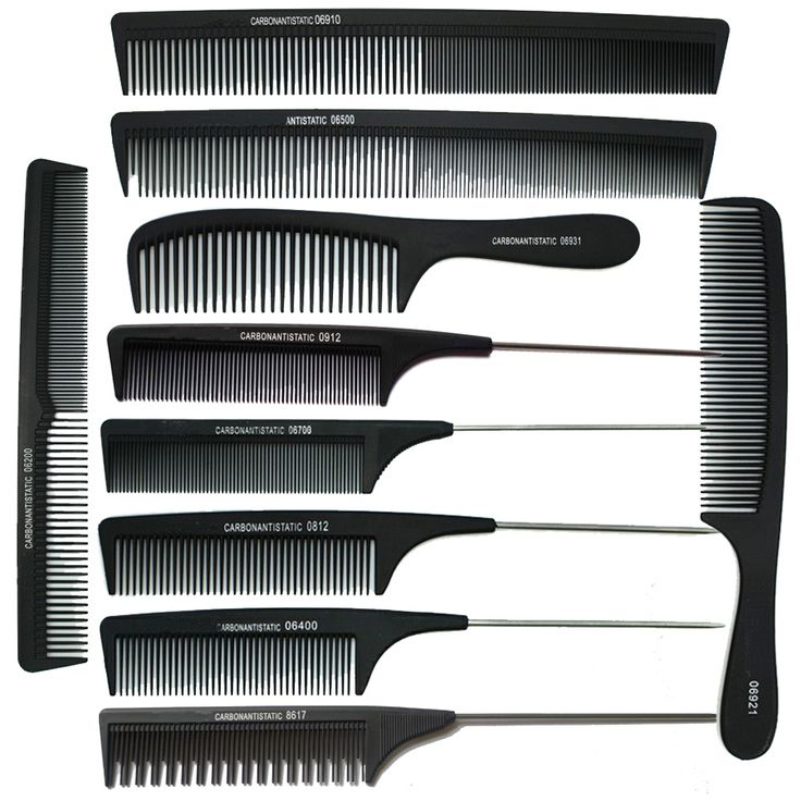10pcs/ Lot !   2016 Professional Hair Styling Black Rat  Tail Combs Salon Barber  Hairdresser Cutting Carbon Comb