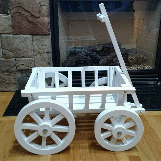 Small Angel Carriage Painted For Babies Toddlers Etsy Wagon For Wedding Flower Girl Wagon Painting Trim