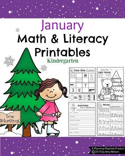 January Kindergarten Worksheets.