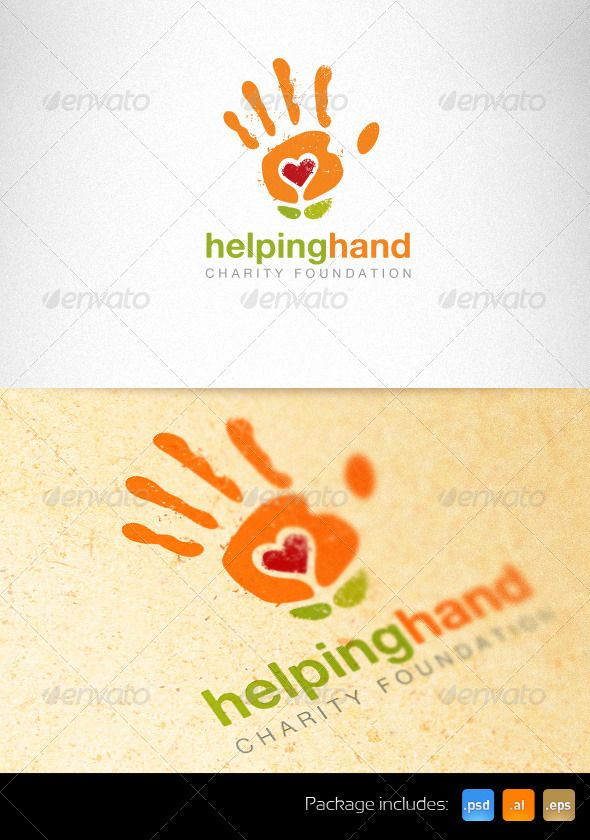 i love the way the image links into the type helping hands, its not to difficult to understand its something you will get straight away.