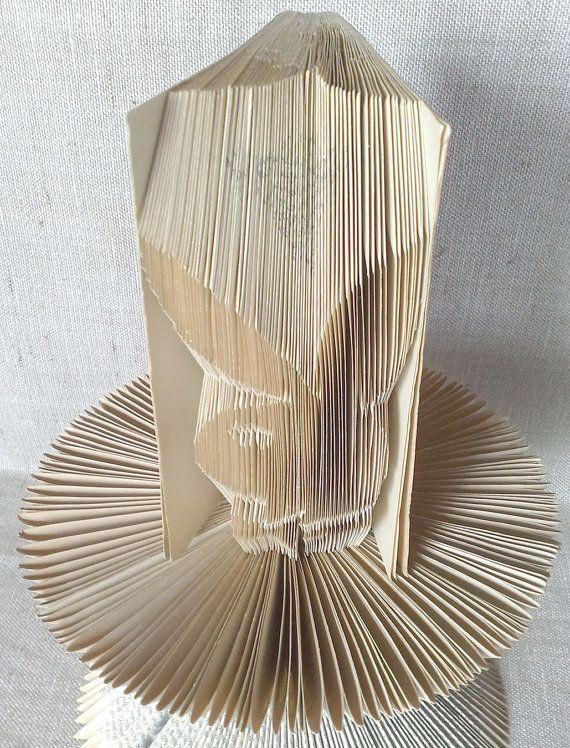 Book folding pattern and FREE Tutorial - Playboy Logo - folded book art, origami, gift #bookfolding #bookfoldingpattern #foldedbookart #booksculpture #papersculpturebook #origamibook #weddinggift #weddinganniversary #birthdaygift #patterntutorial #recycledbook #homedecor  #craft #gift #playboy by #PatternsStore