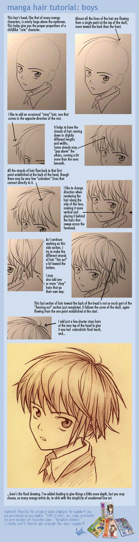 manga hair tutorial: boys by *markcrilley on deviantART