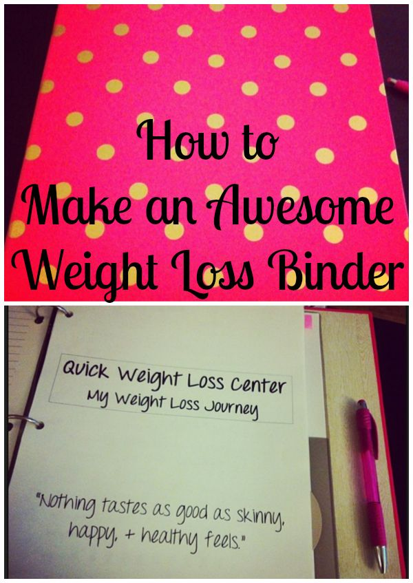 weight loss binder, weight loss organization, food diary,