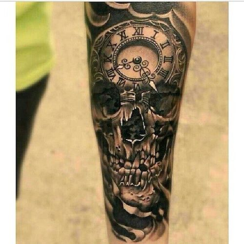 When it comes to tattooing skulls... black and grey is the best.