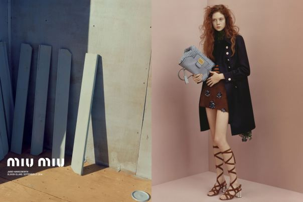 Natalie Westling by Jamie Hawkesworth for Miu Miu Resort 2015