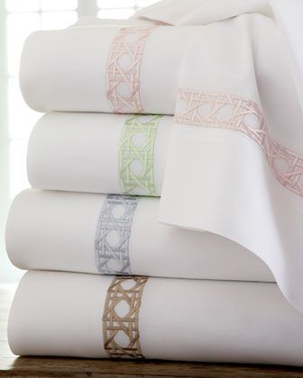 """Marcus Collection """"Cane"""" Sheet Sets by SFERRA at Horchow."""