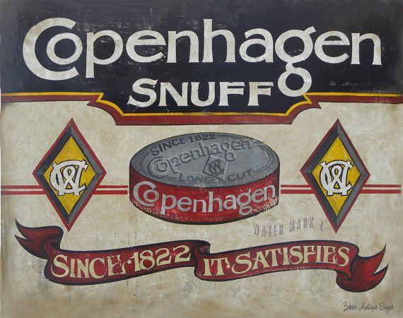 Copenhagen Snuff  Print & MAT on Etsy, $15.00