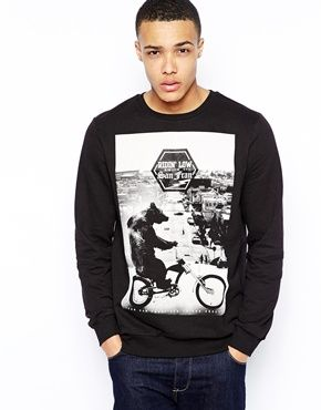 New Look Sweatshirt with Compton Bear Print