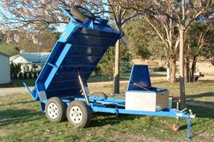 Custom built tipper trailer made by Complete Weld in Mudgee, NSW, Australia.