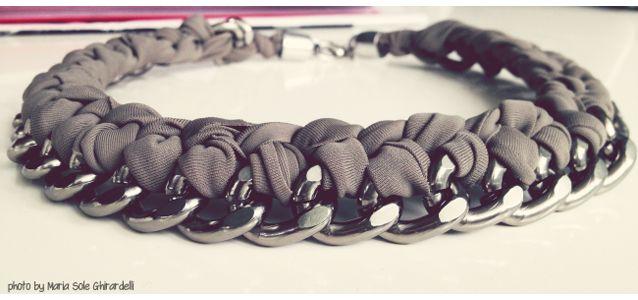 Chain Necklace { Collana Catena e Fettuccia }