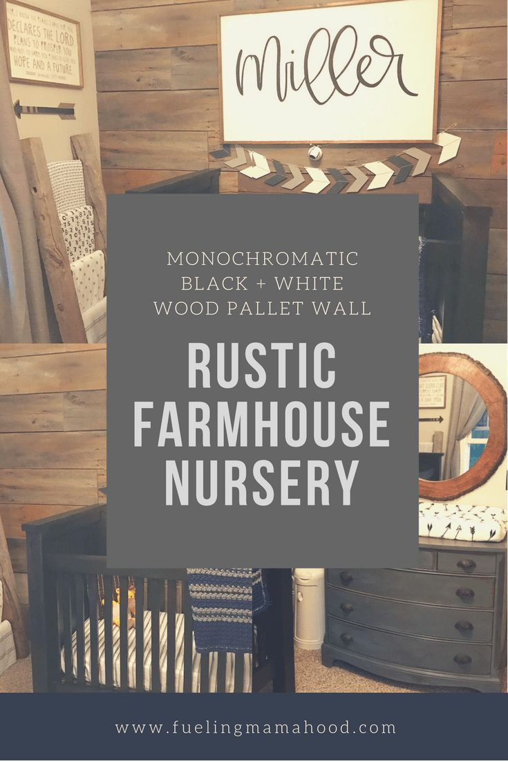 A peak at Miller's monochromatic rustic farmhouse nursery as we approach 37 weeks of pregnancy and are waiting on his arrival!