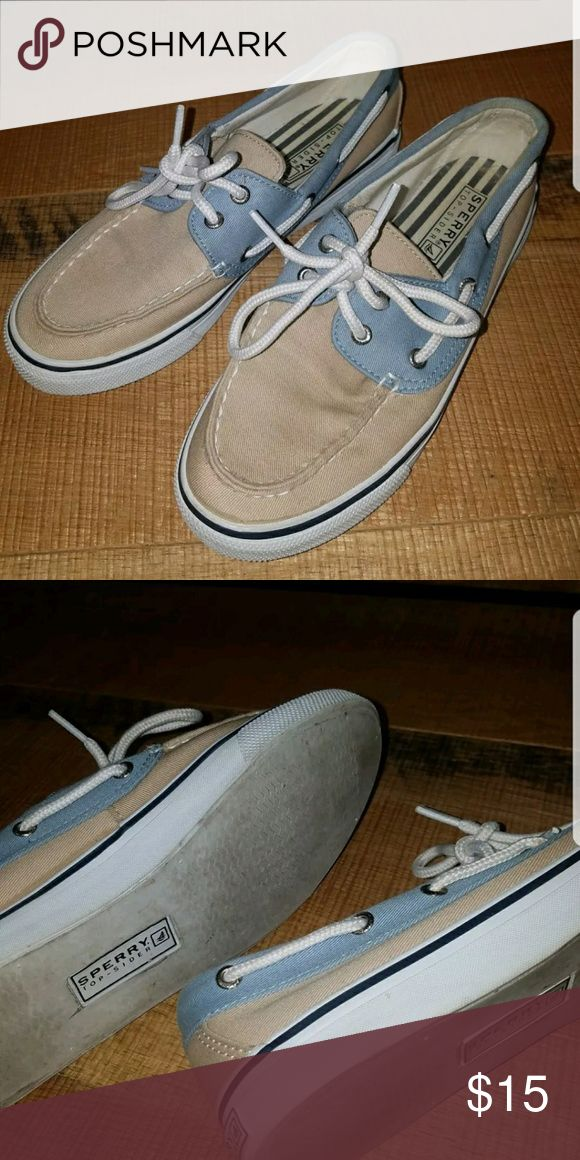 Sperry  TOP-SIDER Loafers blue Khaki size 6.5m These still have lots of wear left in them. Sperry Top-Sider Shoes Flats & Loafers