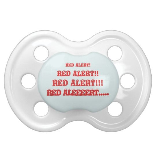 #zazzle #baby #boy #girl #gift #giftidea  #0-6months #BooginHead® #Pacifier #Red #Alert