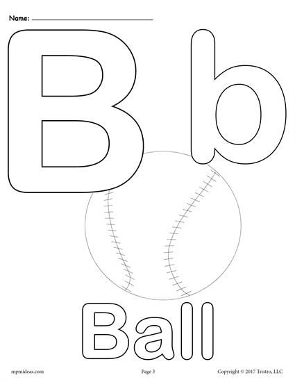 FREE Printable Uppercase and Lowercase Letter B Coloring Page! Letter B worksheets like this are perfect for toddlers, preschoolers, and kindergartners and are great for letter recognition, fine motor skills, and more. Includes 3 letter B coloring pages. Get the entire set of letter B printables here --> https://www.mpmschoolsupplies.com/ideas/7446/letter-b-alphabet-coloring-pages-3-free-printable-versions/