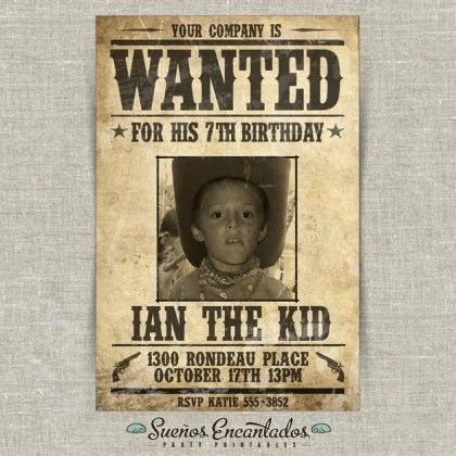 fb225aaf440f999e0148cad9f63c6c42 buffet ideas poster ideas 18 best wanted poster ideas images on pinterest,Wanted Poster Birthday Invitations
