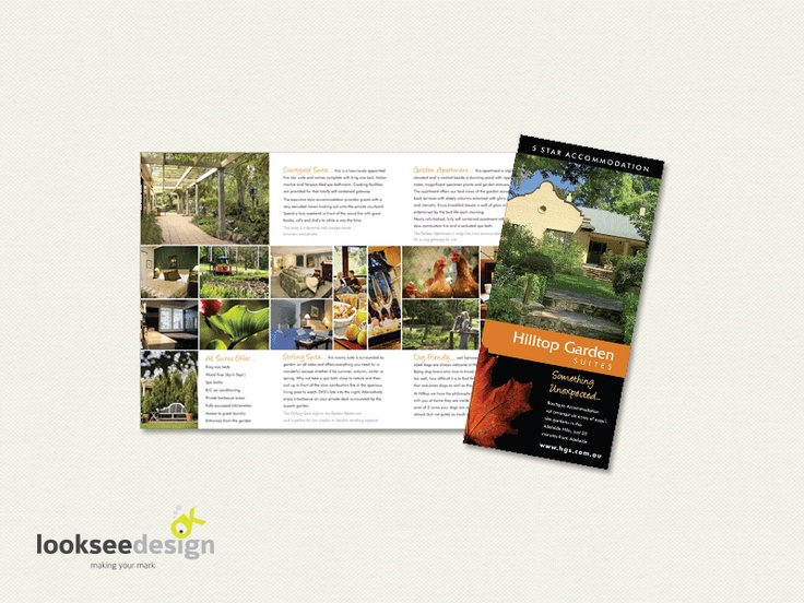Hill Top Suites Promotional Brochure - Designed by Looksee Design