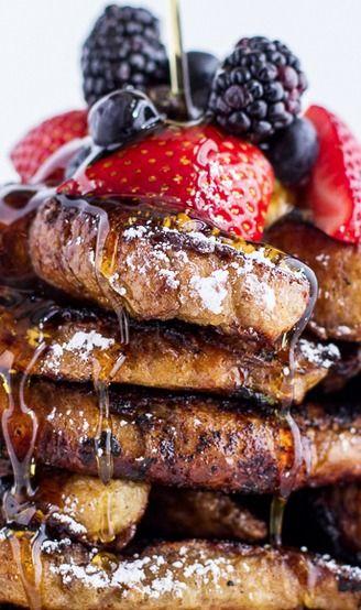 Coffee Caramelized Croissant French Toast Sticks