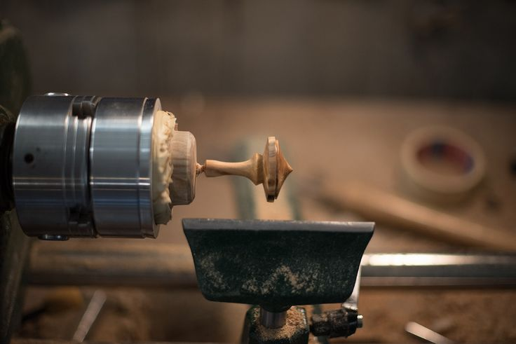 woodturning a spinning top