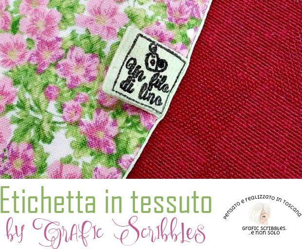 Etichetta in tessuto http://graficscribbles.blogspot.it/2016/04/etichetta-in-tessuto.html #etichette #label #realizzazionelogo