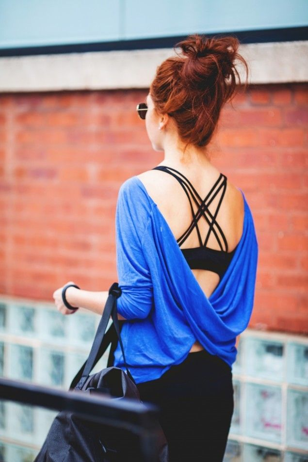 Looking to take the next dance class? This loose fitting top seen on contributor Steph from Glitterary is perfect to throw on before and after a long class. via @stylelist | http://aol.it/1nBi8j1